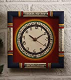 Unravel India Warli Painted Wooden Wall Clock