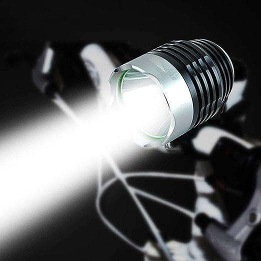ENticerowts XML-Q5 - Linterna Frontal para Bicicleta (3 Modos, 3000 lúmenes, Funciona con Pilas, luz LED para Bicicleta): Amazon.es: Hogar