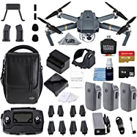DJI Mavic Pro Fly More Combo Collapsible Quadcopter 3 Batteries, 64gb, Charging Hub + flymore Starter Bundle