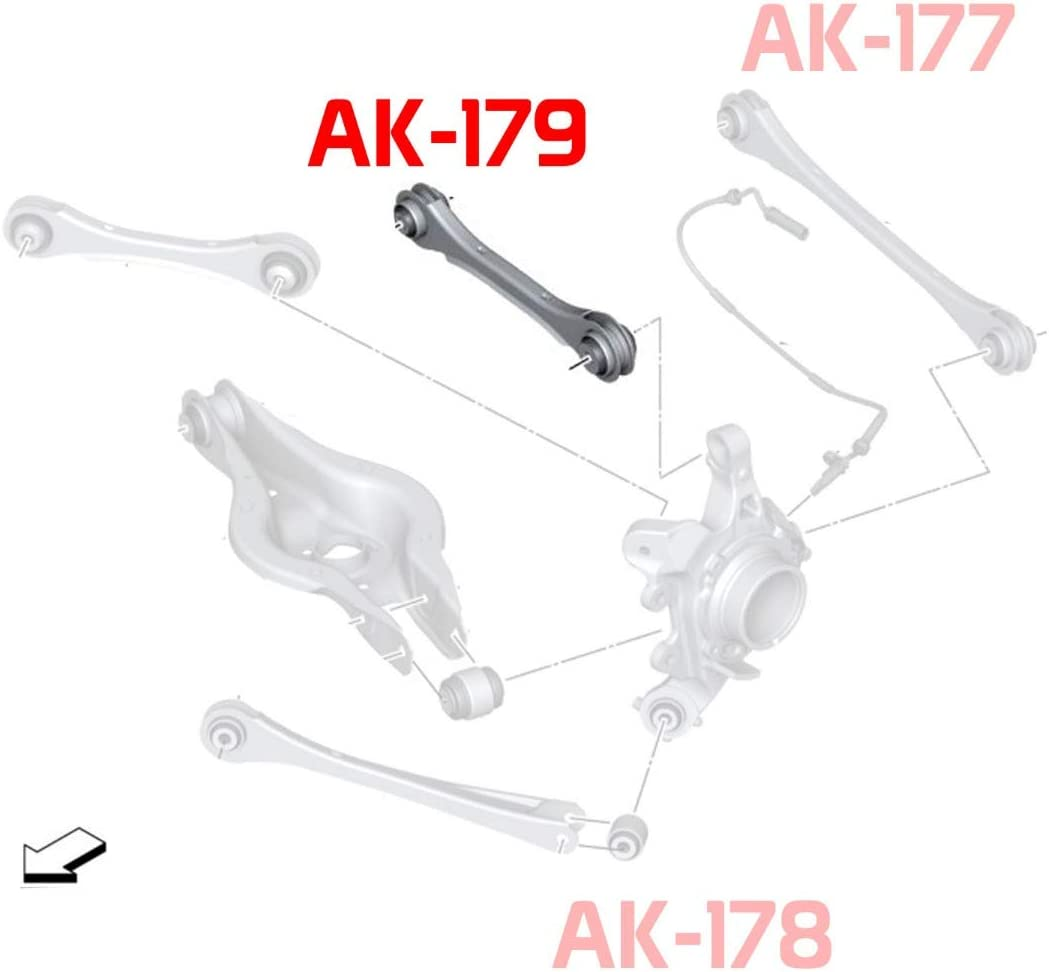 BMW 3-Series Adjustable Rear Camber Upper Arms with Spherical Bearing Godspeed AK-179-B 2012+Up F30//F31//F34 Set of 2
