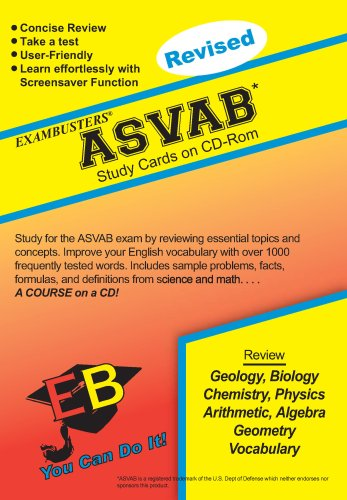 Ace's ASVAB Exambusters Study Cards (Ace's Exambusters Study Cards) -
