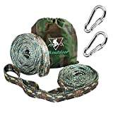 pys XL Hammock Straps - 10ft Camo Tree Straps, 20+1 Adjustable Loops, 2 Carabiners Included 400lbs Fit Any Hammocks, Use Tree-Friendly Adventure, Hiking Backpackiang (Camo)