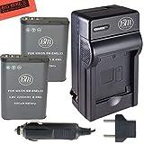 Best Battery Charger For Digital Cameras - BM Premium 2 Pack of EN-EL23 Batteries Review