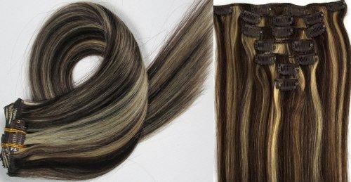 World Pride Модные прямой зажим в наращивание волос 15 дюймов 70 грамм № 2/613 Mix