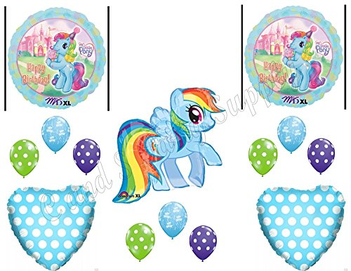 MY LITTLE PONY ICE CREAM RAINBOW DASH Birthday party Balloons Decoration Supplies