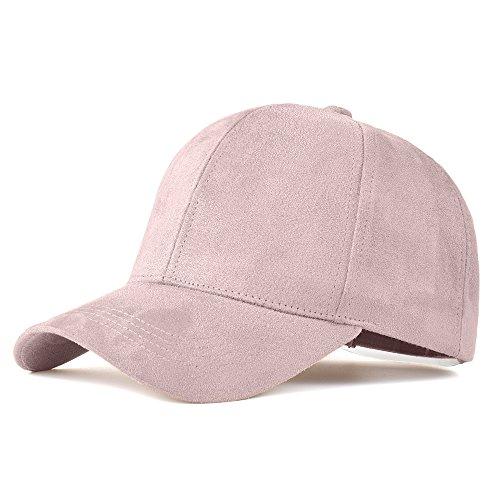 eather Suede Baseball Cap Women Adjustable Casual Low Profile Dad Hat Men Black (Suede Leather Baseball)