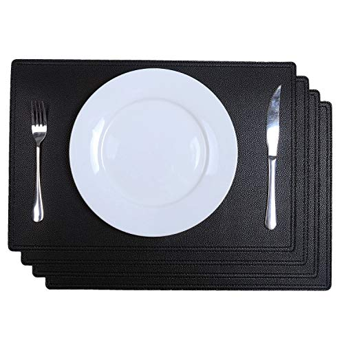 - SHACOS PU Faux Leather Placemats Set of 4 Table Mats 18