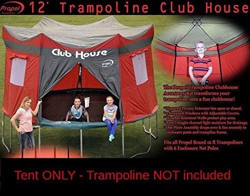Clubhouse Tent Accessory Kit for Propel 12' Trampoline with 6 pole enclosure - TENT ONLY by Propel (Image #6)