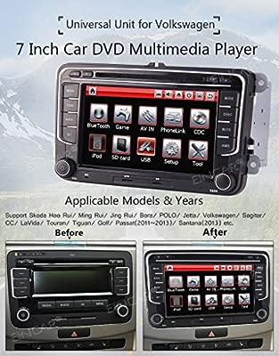 7 Pulgadas de Doble 2Din estéreo del Coche DVD GPS de la Radio por ...