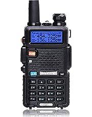 BaoFeng Walkie-Talkie VHF FM-radio met dual-band radio, zwart, 1 pc