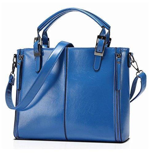 Bolso Hombro Las Ocasional Kervinzhang Del Bolsa Blue Mujeres Brown Trabajo De Compras S4UWwqH