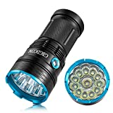 Gibbon 13000 Lumens LED Flashlight 12X CREE XM-L T6 Super Bright Waterproof 5 Modes Torch For Hiking, Camping, Hunting,Fishing And Other Indoor Or Outdoor Activities