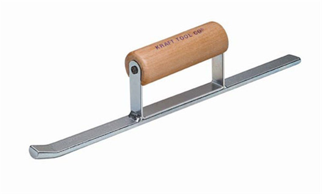 Kraft Tool BL227 Half Round Convex Sled Runner with Wood Handle