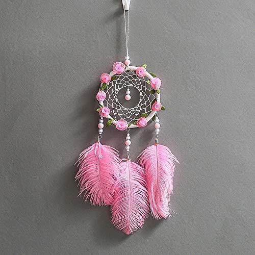 Dream Catcher, Creazy® Handmade Dreamcatcher Feathers Night Light Car Wall Hanging Room Home Decor by Creazy (Image #4)