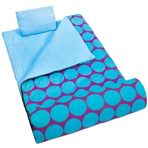 wildkin-big-dot-aqua-original-sleeping-bag