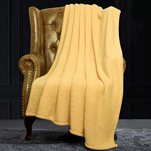 NTBAY Fluffy Velvet Throw, Super Soft Warm Faux Fur Blanket, 51