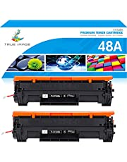 True Image Compatible Toner Cartridge Replacement for HP 48A CF248A Toner Cartridge HP Laserjet Pro M15w MFP M29w M28w M15a M29a M28a M16w M16a M15 M29 M28 Toner Printer Ink (Black, 2-Pack)