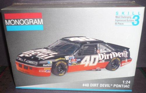 #2973 Monogram Kelly Wallace #40 Dirt Devil Pontiac Grand Prix 1/24 Scale Plastic Model Kit