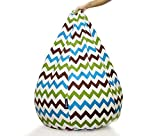 Story@Home Canvas Bean Bag Cover, Zig Zag, XXL