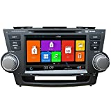 8 inch 2Din High definition TFT LCD Digital Capacitive Touch Screen car DVD player car navigation system car radio DVD GPS for TOYOTA Highlander 2008-2012 (with Canbus)