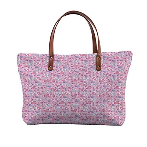 (Baby Stylish Print Top Handle Bags,for Women,15.3