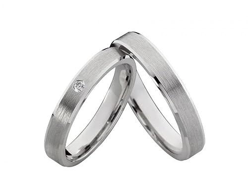 alianzas Partner anillos anillos de bodas de plata FG de 23 con circonita anillos de compromiso Incluye grabado: Amazon.es: Joyería