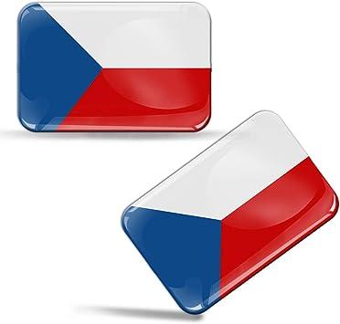 Biomar Labs 2 X Aufkleber 3d Gel Silikon Stickers Tschechische Republik Czech Republic Flag Flagge Fahne Auto Motorrad Fahrrad Fenster Tür Pc Handy Tablet Laptop F 49 Auto