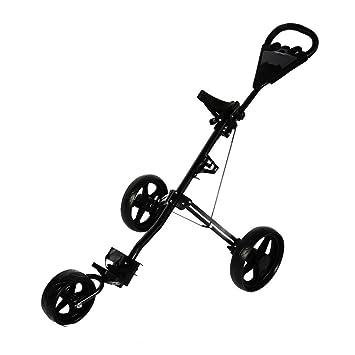 TataYang - Carrito de golf plegable con tres ruedas: Amazon.es: Deportes y aire libre