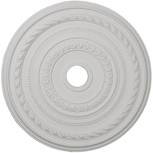 Ekena Millwork CM25CO 25 3/8-Inch OD x 3 3/8-Inch ID x 1 3/8-Inch P Cole Ceiling Medallion