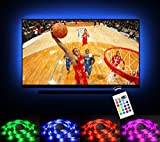 Emotionlite Bias Lighting LED TV Backlight Strip 13.1ft for 60″-70″ TV, 16 Colors Changed RGB Light Strip, USB Powered Backlight Light for Flat Screen HDTV LCD with 24keys Remote Controller Review