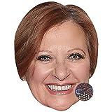 Caroline Manzo (Smile) Celebrity Mask, Card Face and Fancy Dress Mask