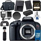 Canon EOS Rebel T7i DSLR Camera (Body Only) 1894C001 + LPE-17 Lithium Ion Battery + Universal Slave Flash Unit + Lens Cleaning Kit + Canon 100ES EOS Shoulder Bag Bundle