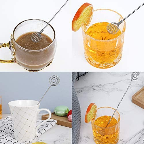 Huiyoo Rührstäbchen aus Edelstahl, für Kaffee, Getränke, 4 Stück 1