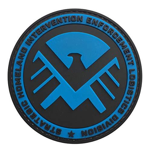 Marvel Strategic Homeland Intervention Enforcement Division 3.15 PVC Tactical Morale Patch Hook Backing (Blue)