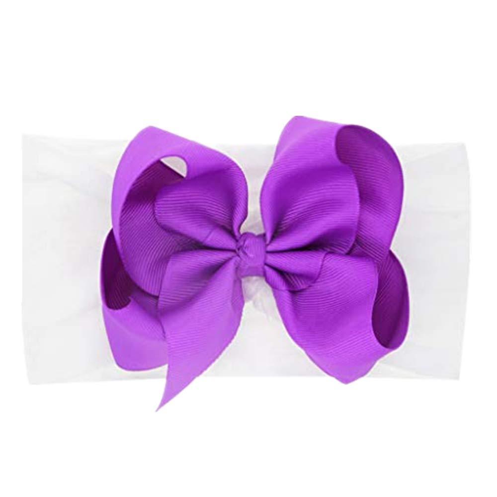 NUWFOR Newborn Toddler Kid Baby Girls Bow Knot Turban Headband Headwear Accessories G