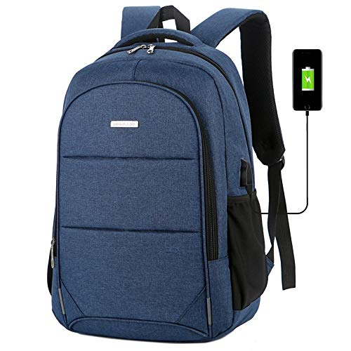 Perfttyy Rushuo-Beibao Backpack Men's Fooling Backpack Laptop Shoulder Bag Backpack Expectant Capacity USB Charging Travel Bag