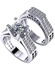 Dar Twins Ring For Women 18K Platinum Plated (DAR232)