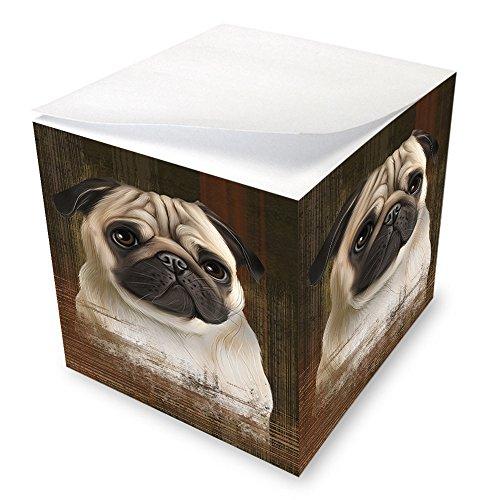 Rustic Pug Dog Note Cube NOC50457 ()