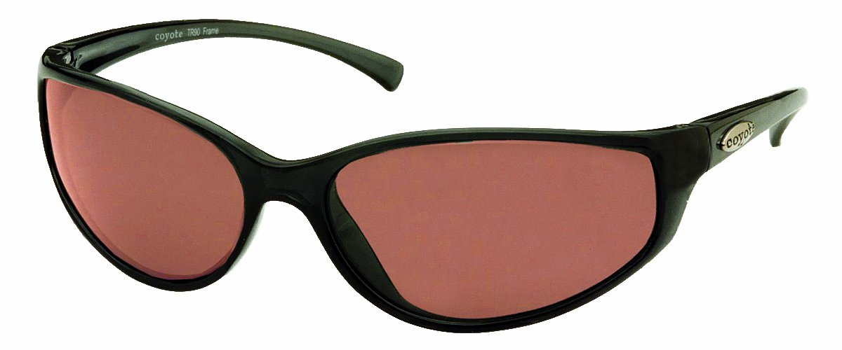 8083f50e99 Coyote Eyewear Riptide Polar Lite Polarized Sport Sunglasses (Black Flash  Rose)  Amazon.co.uk  Sports   Outdoors