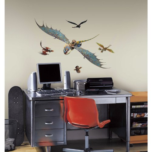 RoomMates How to Train Your Dragon 2 Astrid & Stormfly Peel and Stick Giant Wall Decals