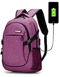 HongyuTing Business Laptop backpack with USB port fashion Casual school travel bags