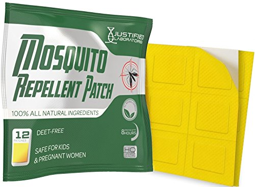 Mosquito Repellent Patch 12 Pack - Contains All Natural Lemon Eucalyptus and Essential Oils - DEET Free Non Toxic - Effective Protection Against Mosquitoes Bugs Insects - For Kids and Adults ()