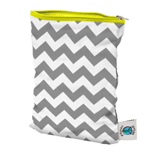 Planet Wise Wet Diaper Bag, Gray Chevron, Small