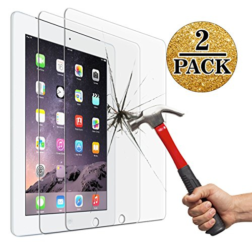 Screen Protector for iPad 2 3 4 (Oldest Models), Jusney Tempered Glass Film Compatible for Apple iPad2/iPad3/iPad4 (NOT for iPad Air/iPad 5) [2 Pack] (Apple Ipad Air 2 Old Version)