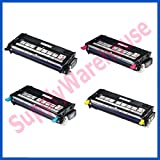 High Yield Xerox Phaser 6180, Phaser 6180MFP Toner Cartridge Set, Xerox 113R00726 Black 113R00723 Cyan 113R00725 Yellow 113R00724 Magenta Toner Cartridges Remanufactured, Office Central