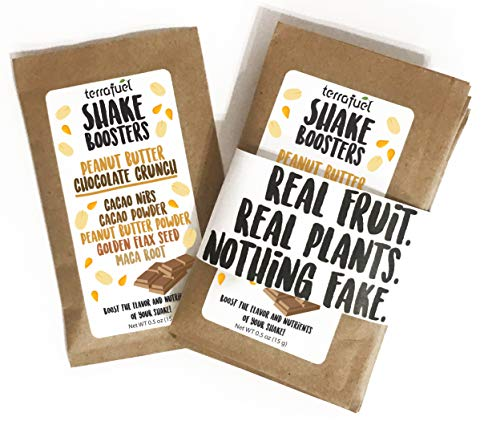 Shake Booster – Real Fruit, Real Plants, Nothing Fake – Boost Protein Shake Flavor and Nutrients (Peanut Butter Chocolate Crunch)