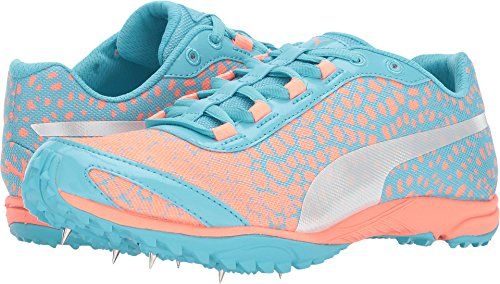 PUMA Women's evoSPEED Haraka 4 Neutral Gray Turquoise/Neutral Gray Peach 9.5 B US For Sale