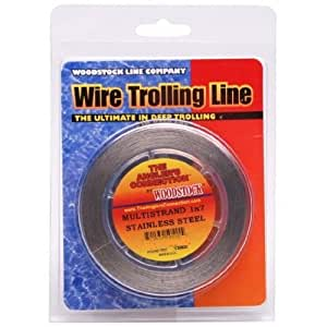 Woodstock 1x7 stainless steel fishing wire for Fishing wire walmart