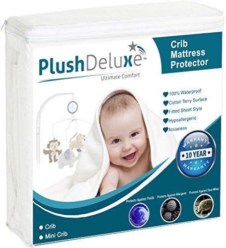 PlushDeluxe Waterproof Protector Hypoallergenic Breathable product image