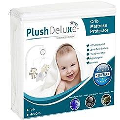 PlushDeluxe Mini Crib Size Premium 100% ...